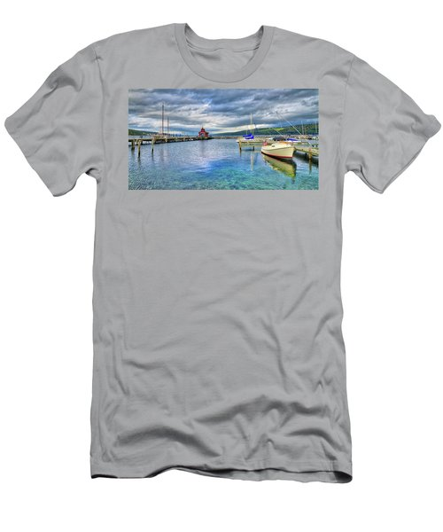 Men's T-Shirt (Athletic Fit) featuring the photograph The Marina At Seneca Lake - Finger Lakes, New York by Lynn Bauer