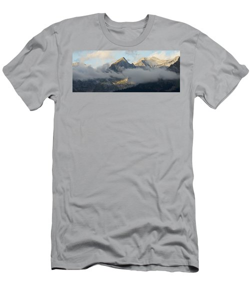 Men's T-Shirt (Athletic Fit) featuring the photograph The Ossau Valley  by Stephen Taylor