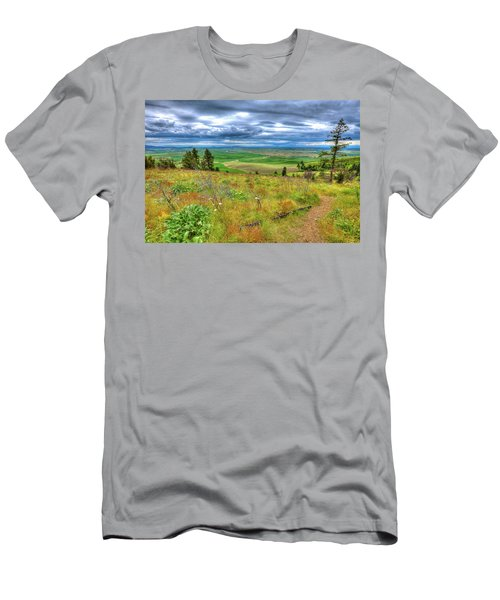 Men's T-Shirt (Athletic Fit) featuring the photograph The Path Down Kamiak Butte by David Patterson