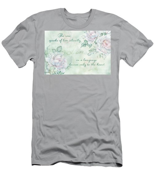 The Rose Speaks Of Love Men's T-Shirt (Athletic Fit)