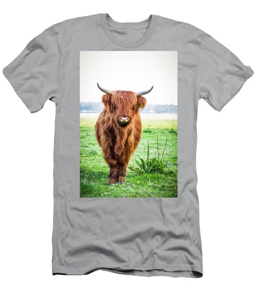 Men's T-Shirt (Athletic Fit) featuring the photograph The Scottish Highlander by Anjo Ten Kate
