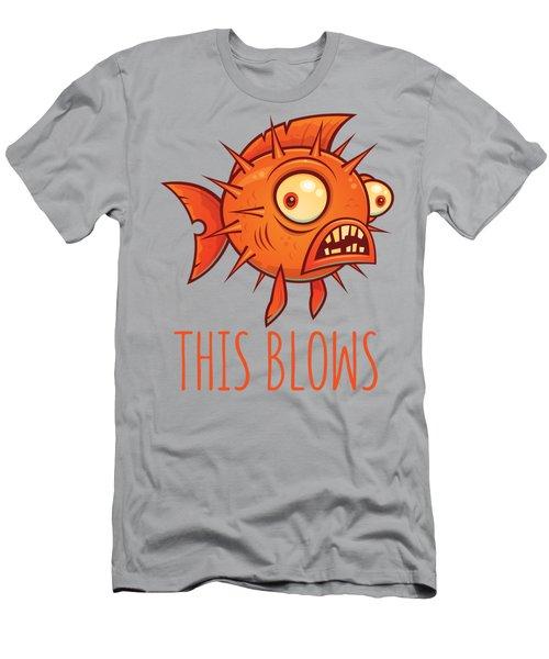 This Blows Porcupine Blowfish Men's T-Shirt (Athletic Fit)