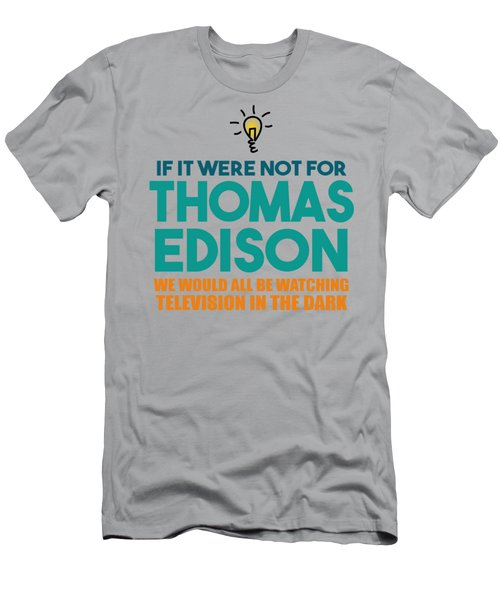 Thomas Edison Men's T-Shirt (Athletic Fit)