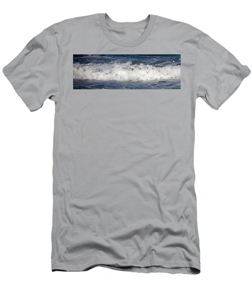 Men's T-Shirt (Athletic Fit) featuring the photograph Through The Waves by Lora J Wilson