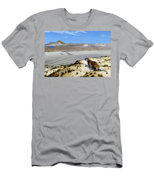 Tiger On The Watch - Digital Remastered Edition Men's T-Shirt (Athletic Fit)