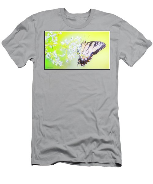 Tiger Swallowtail Butterfly On Privet Flowers Men's T-Shirt (Athletic Fit)
