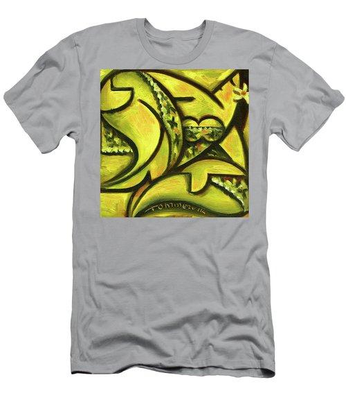 Tommervik Hawaiian Woman Wearing Fancy Dress Art Print Men's T-Shirt (Athletic Fit)