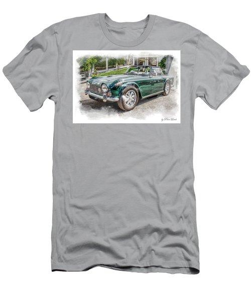 Triumph Tr5 At Roman Gardens Men's T-Shirt (Athletic Fit)