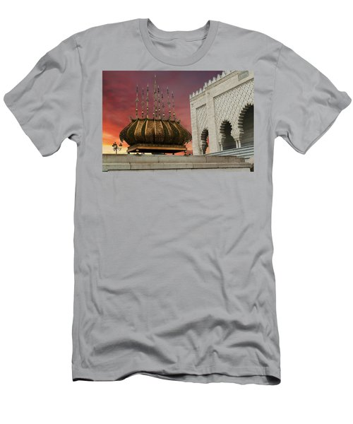 Traditional Outdoor Lighting Urn, Mausoleum Men's T-Shirt (Athletic Fit)