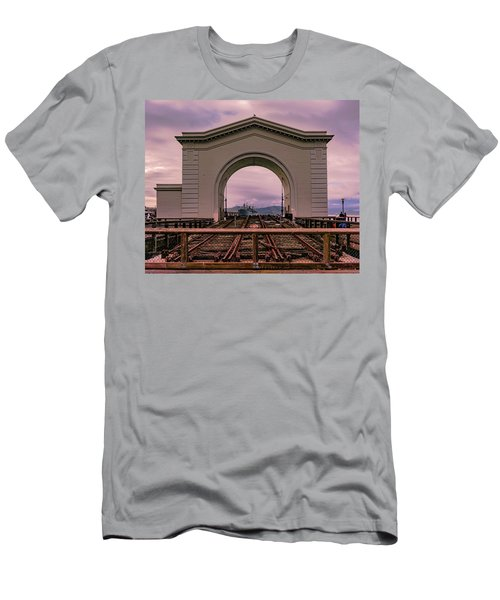 Train To Nowhere Men's T-Shirt (Athletic Fit)