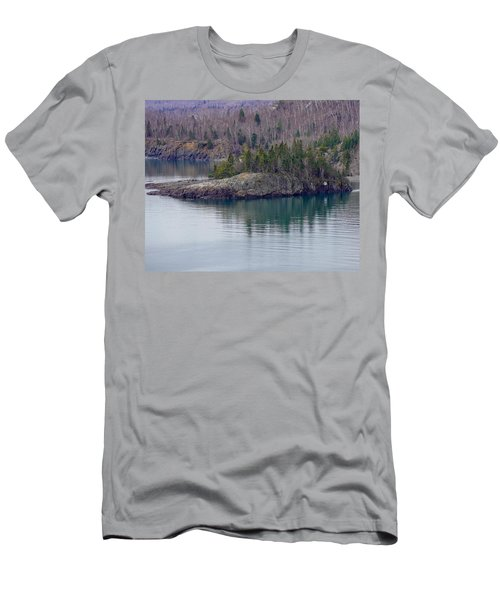 Tranquility In Silver Bay Men's T-Shirt (Athletic Fit)