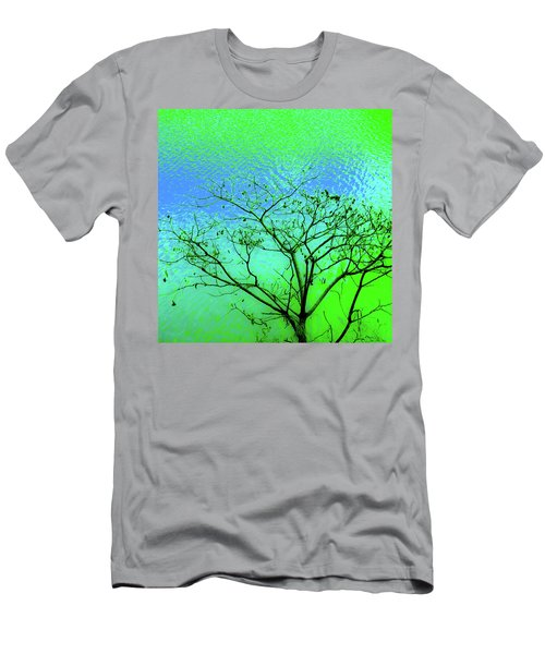 Tree And Water 3 Men's T-Shirt (Athletic Fit)