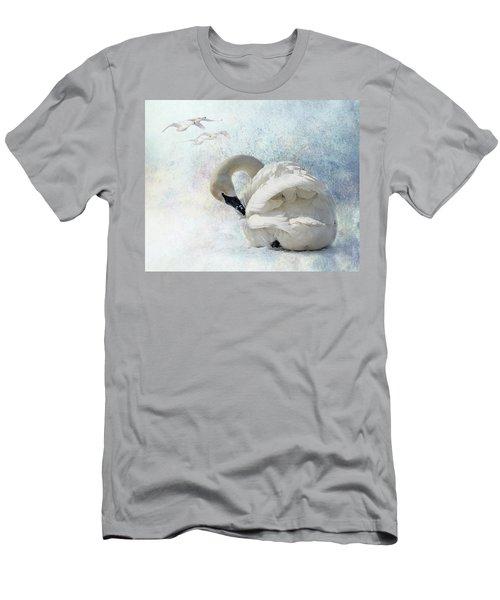 Trumpeter Textures #2 - Swan Preening Men's T-Shirt (Athletic Fit)