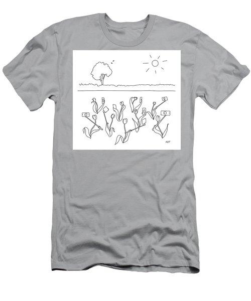 Tulip Selfies Men's T-Shirt (Athletic Fit)