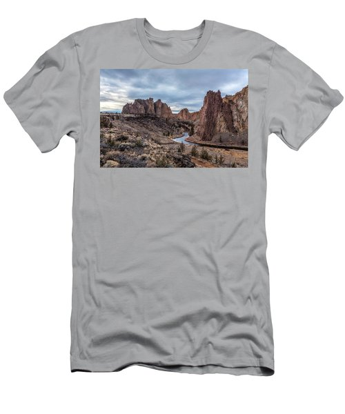 Twilight At Smith Rock State Park Men's T-Shirt (Athletic Fit)