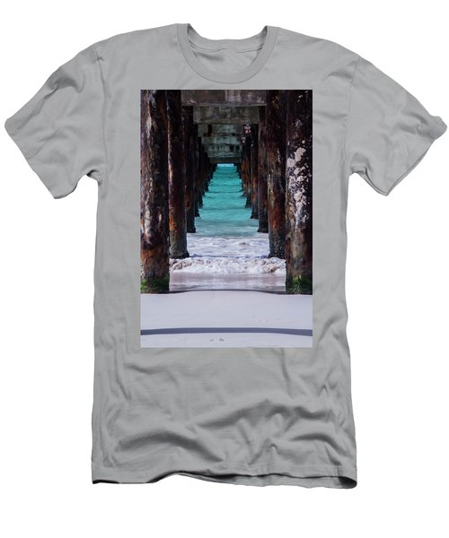 Men's T-Shirt (Athletic Fit) featuring the photograph Under The Pier #3 Opf by Stuart Manning