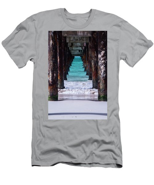 Men's T-Shirt (Athletic Fit) featuring the photograph Under The Pier by Stuart Manning