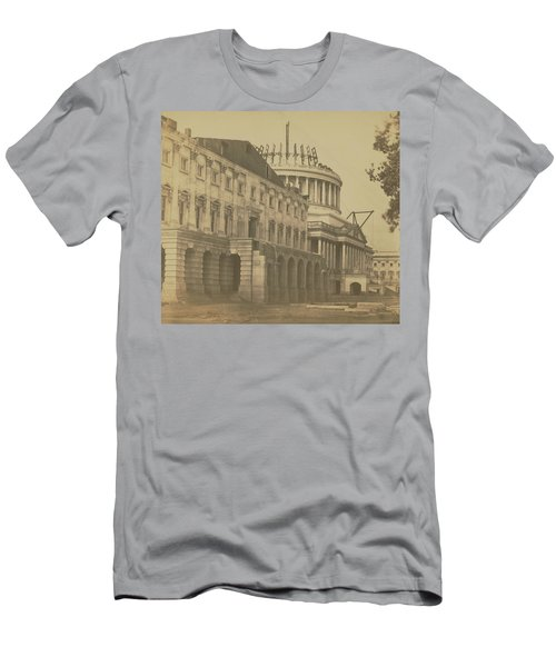 United States Capitol Under Construction Men's T-Shirt (Athletic Fit)