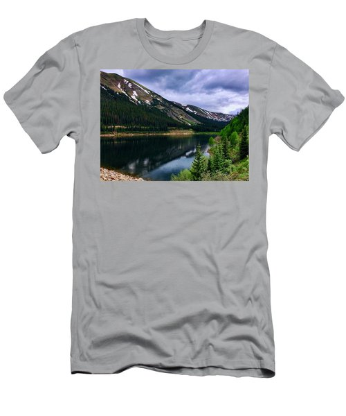 Men's T-Shirt (Athletic Fit) featuring the photograph Urad Lake by Dan Miller