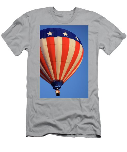Usa Patriotic Hot Air Balloon Men's T-Shirt (Athletic Fit)