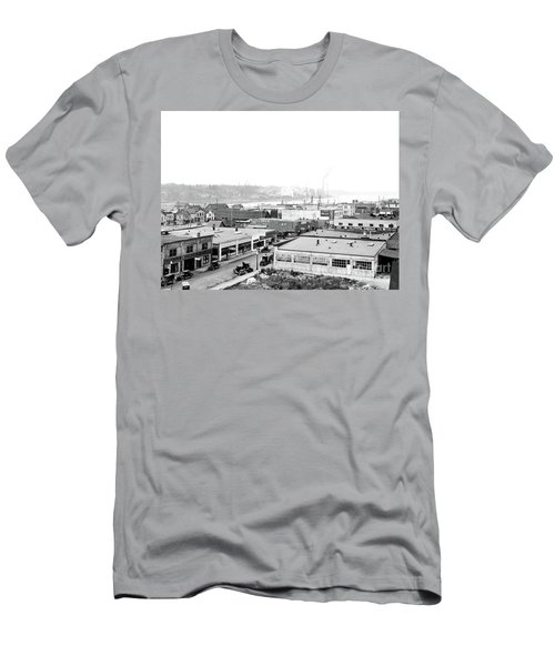 Men's T-Shirt (Athletic Fit) featuring the photograph View Nw Over Olympia From Elks Building On Capitol Way 1929 by Vibert Jeffers