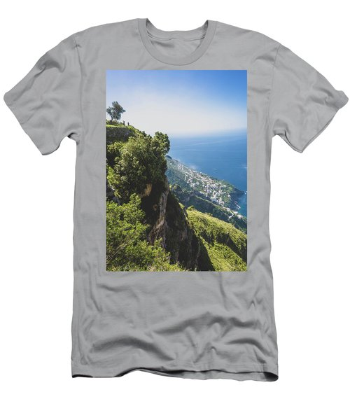 View Of Amalfi Italy From Path Of The Gods Men's T-Shirt (Athletic Fit)
