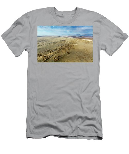 Men's T-Shirt (Athletic Fit) featuring the photograph Village Toward Amu Darya River by SR Green