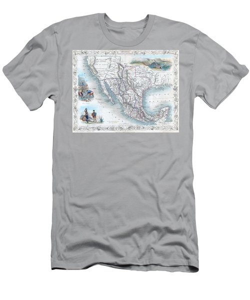 Vingage Map Of Texas, California And Mexico Men's T-Shirt (Athletic Fit)