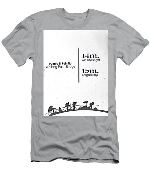 Walking Palm Bridge Sign Men's T-Shirt (Athletic Fit)