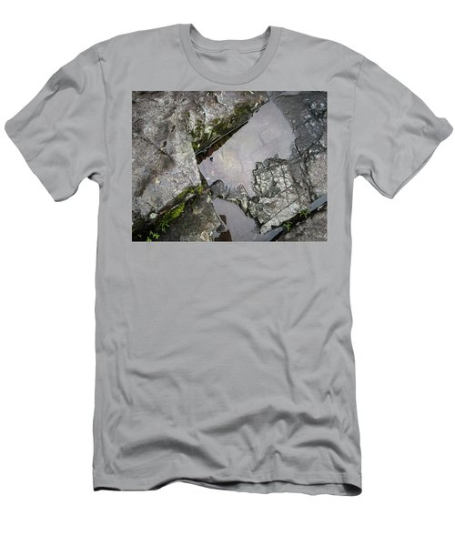 Men's T-Shirt (Athletic Fit) featuring the photograph Water On The Rocks 2 by Juan Contreras