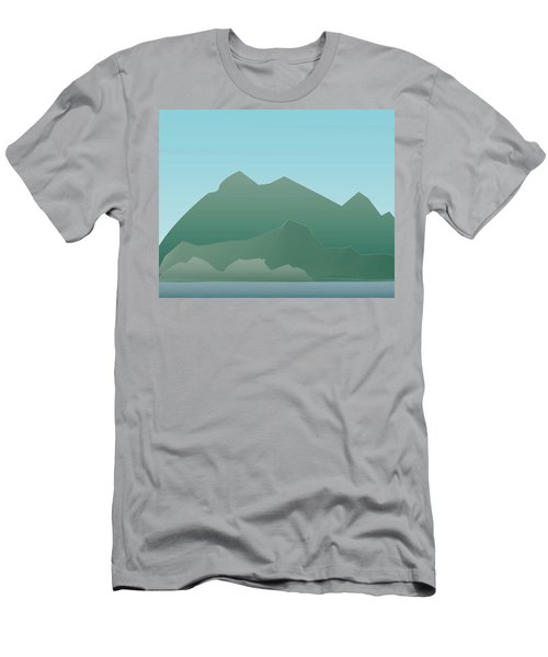 Wave Mountain Men's T-Shirt (Athletic Fit)