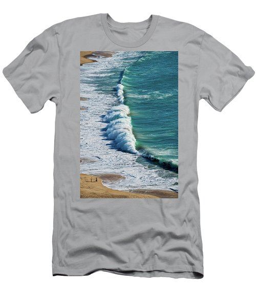 Waves At Nazare Beach - Portugal Men's T-Shirt (Athletic Fit)