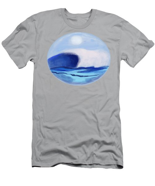 Waves Coming Toward The Shore Men's T-Shirt (Athletic Fit)