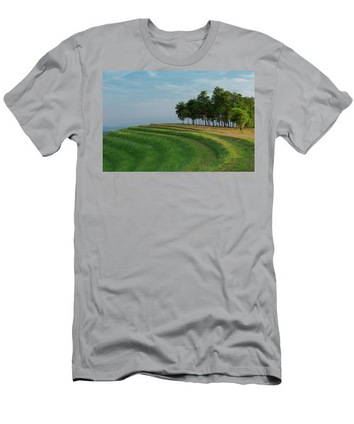 Men's T-Shirt (Athletic Fit) featuring the photograph Waves Of Grass by Davor Zerjav