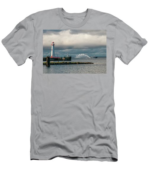 Wawatam Lighthouse Men's T-Shirt (Athletic Fit)