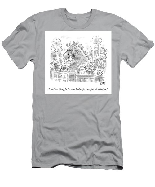 We Thought He Was Bad Before Men's T-Shirt (Athletic Fit)