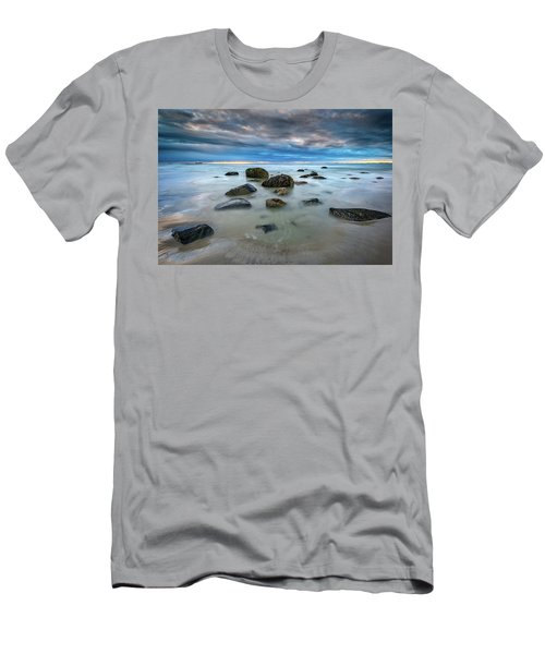 Men's T-Shirt (Athletic Fit) featuring the photograph Wells Beach In Blue by Rick Berk
