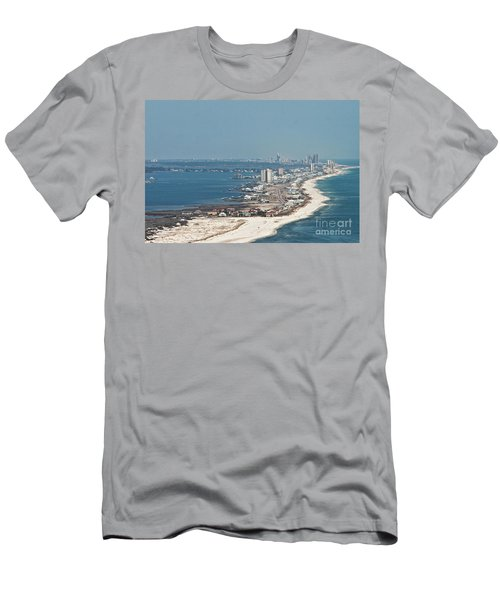 Men's T-Shirt (Athletic Fit) featuring the photograph West Beach-1 by Gulf Coast Aerials -