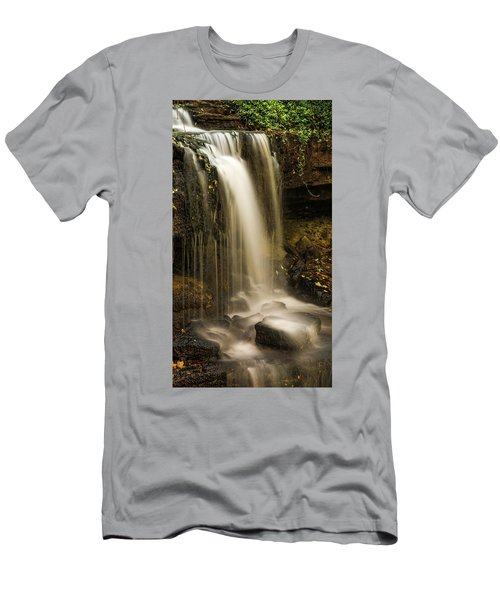 Men's T-Shirt (Athletic Fit) featuring the photograph West Milton Falls Vertical by Dan Sproul