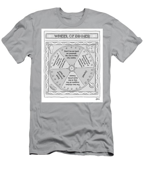Wheel Of Dinner Men's T-Shirt (Athletic Fit)
