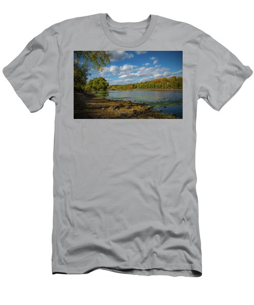 Men's T-Shirt (Athletic Fit) featuring the photograph Where Washington Crossed by Lora J Wilson