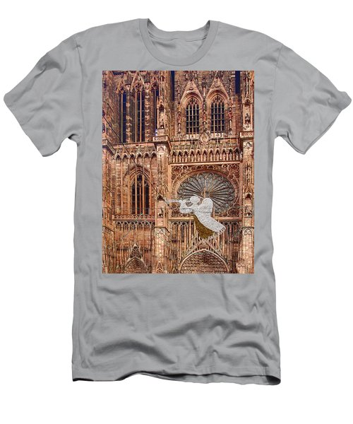White Angel Decorations On Shops At The Christmas Market Men's T-Shirt (Athletic Fit)