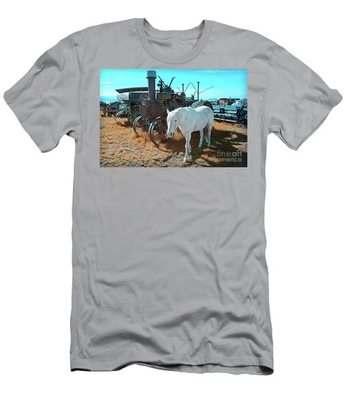 White Horse Iron Horse Men's T-Shirt (Athletic Fit)