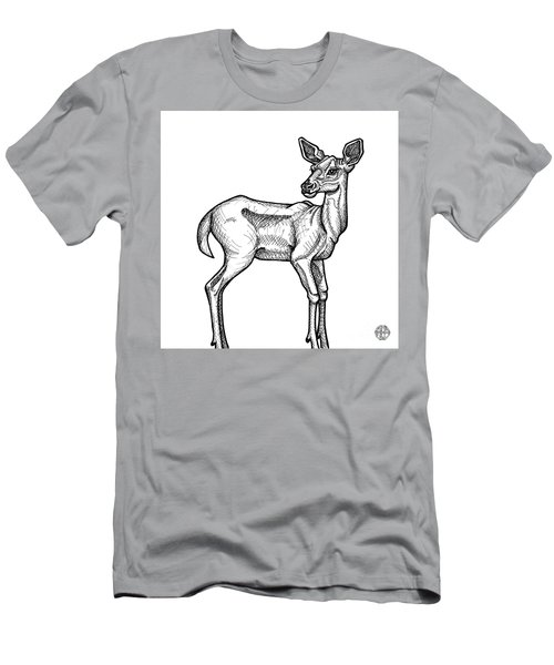 White Tailed Doe Men's T-Shirt (Athletic Fit)