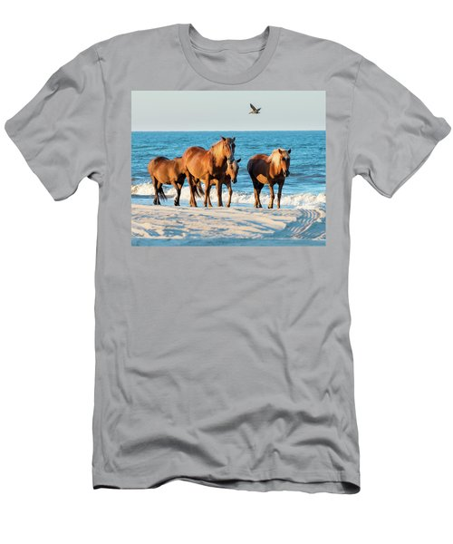 Wild Colonial Spanish Mustangs Of Carova Men's T-Shirt (Athletic Fit)