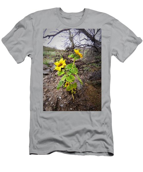 Wild Desert Sunflower Men's T-Shirt (Athletic Fit)