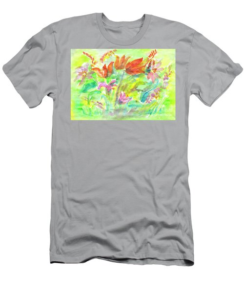Wild Flowers In The Sunny Meadow Men's T-Shirt (Athletic Fit)