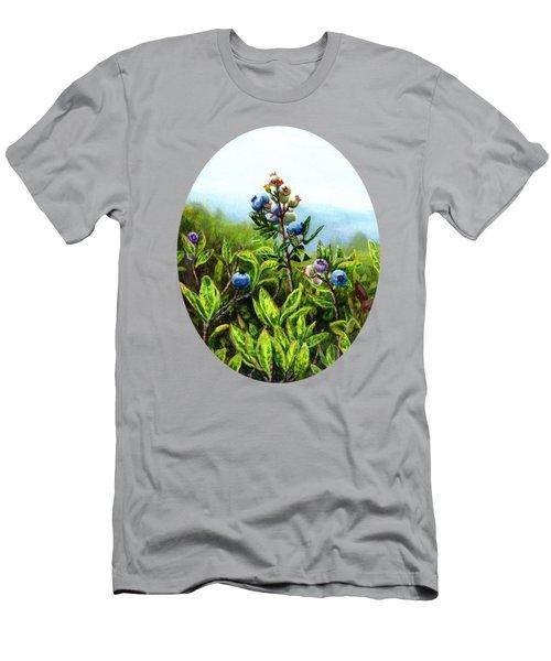 Wild Maine Blueberries  Men's T-Shirt (Athletic Fit)