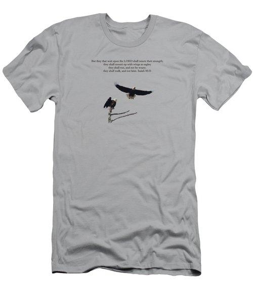 Wings Like Eagles Isaiah 40 31 Men's T-Shirt (Athletic Fit)
