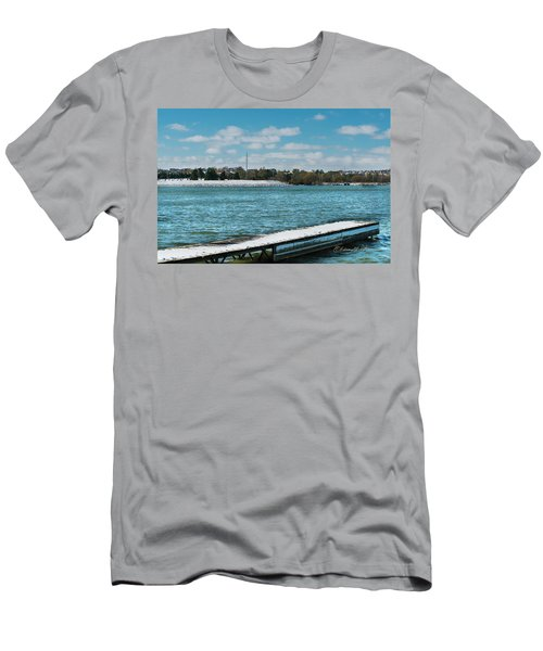 Men's T-Shirt (Athletic Fit) featuring the photograph Winter Arrives  by Edward Peterson